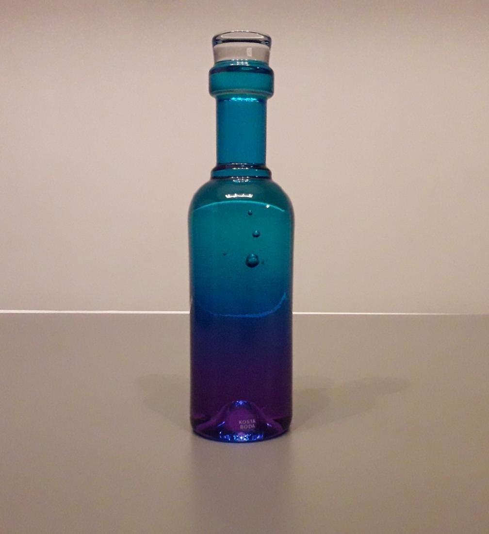 Kosta Boda - Kjell Engman - Glass Sculpture Winebottle
