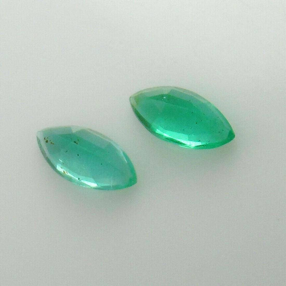 0.74 Ct Natural Zambian Emerald Marquise Pair
