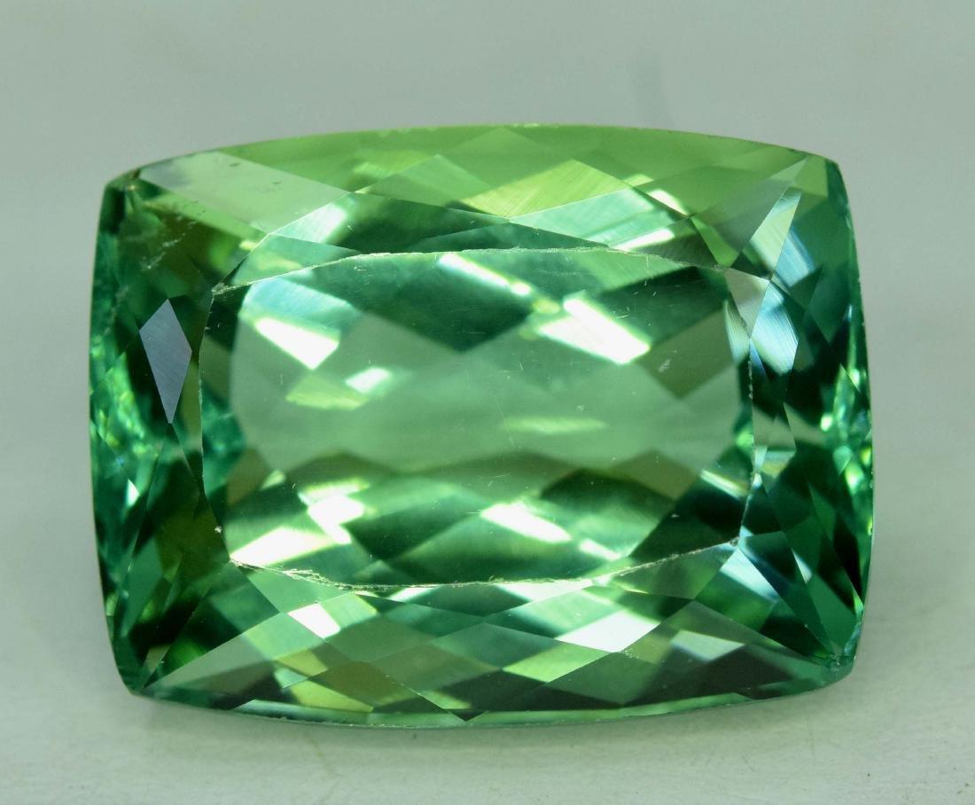 22.30 cts Flawless Lush Green Spodumene Kunzite