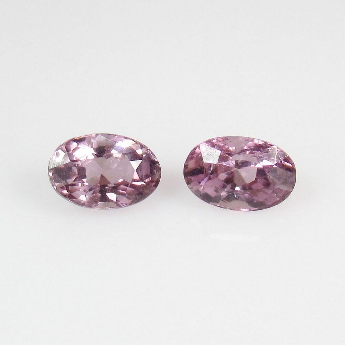 1.23 Ct Natural Pink Sapphire 6X4 mm Oval Pair