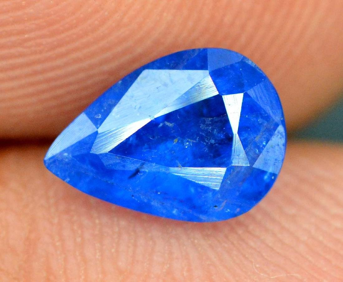 0.65 cts pear cut Extremely Rare Blue Color Natural