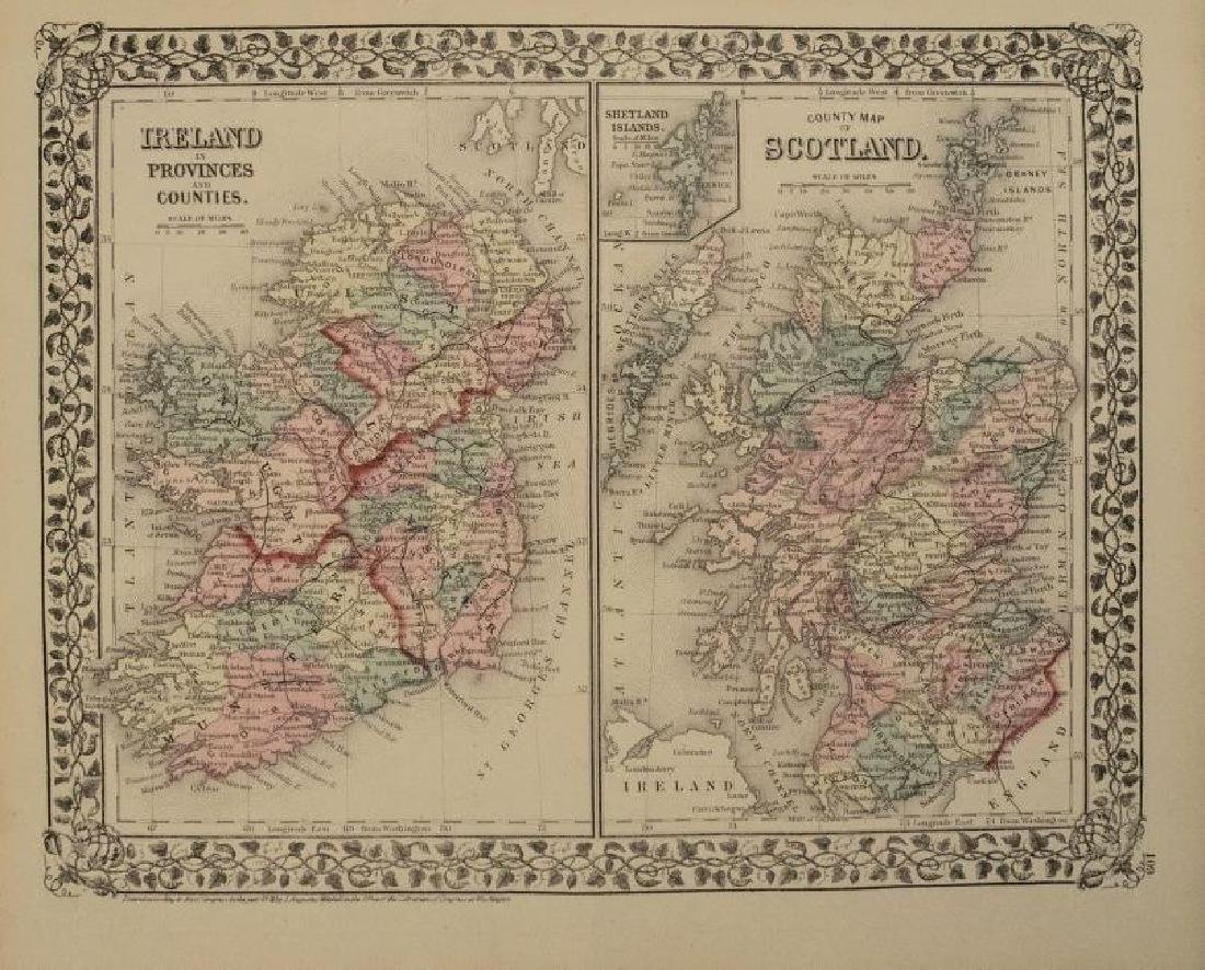 Map Of Spain Portugal And France.1876 Mitchell Map Of France Spain Portugal May 01 2019