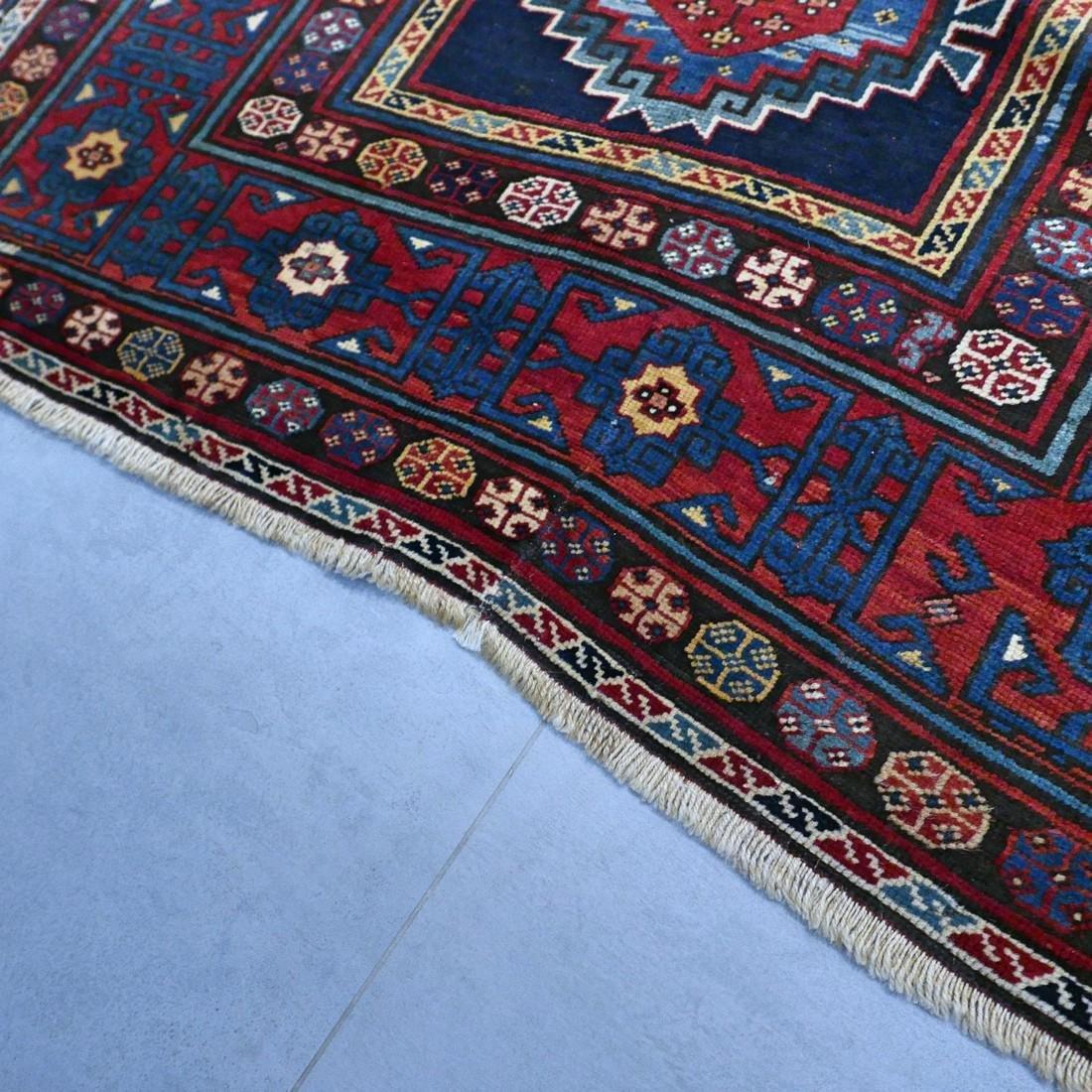 Antique 1800s Kazak rug - 9.5 x 4.3 - 10