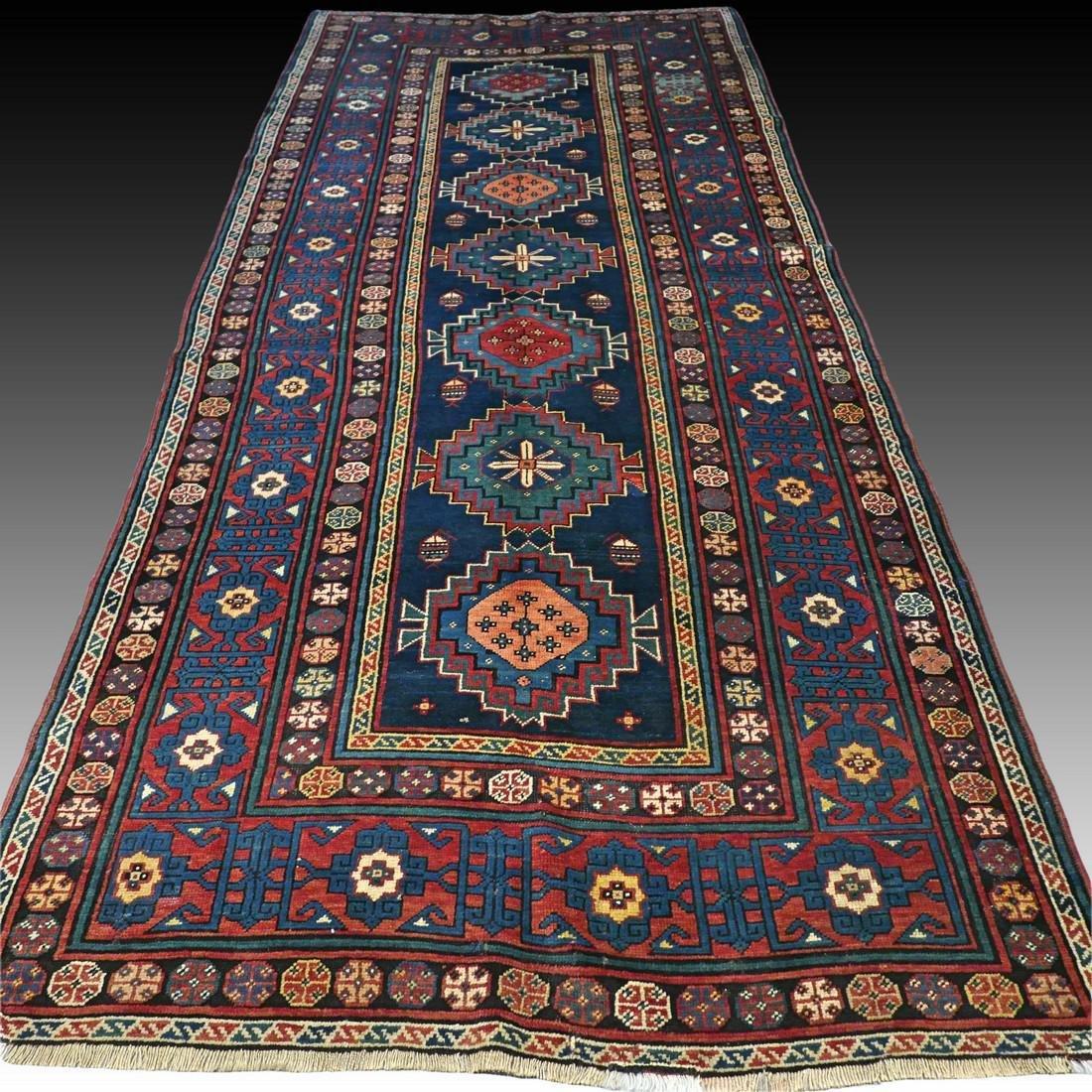 Antique 1800s Kazak rug - 9.5 x 4.3