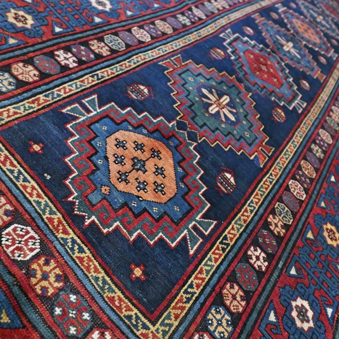 Antique 1800s Kazak rug - 9.5 x 4.3 - 4