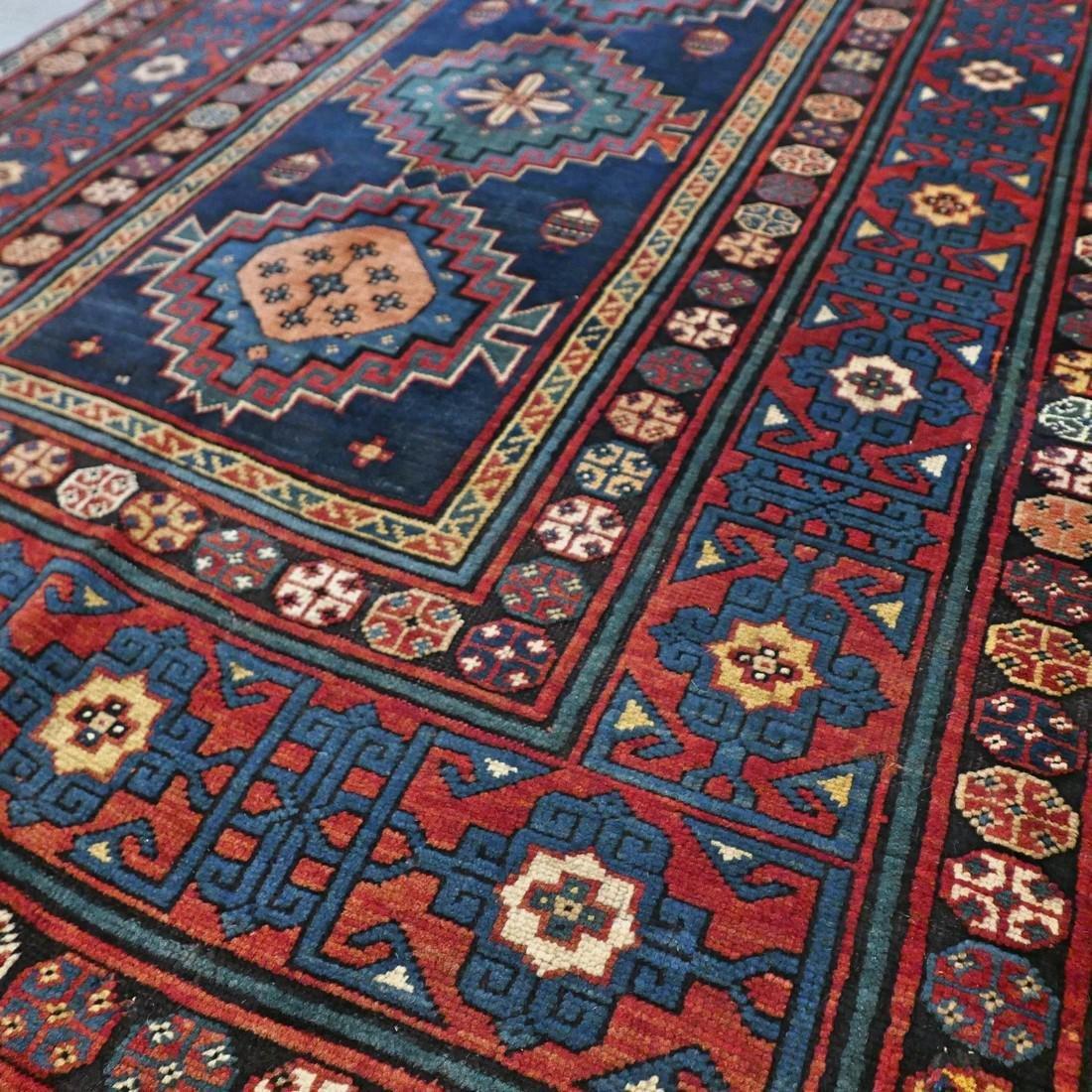 Antique 1800s Kazak rug - 9.5 x 4.3 - 5