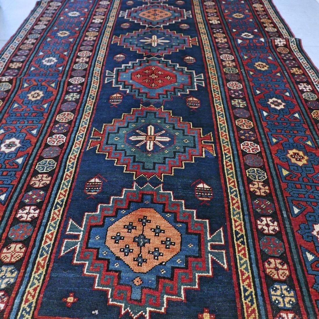 Antique 1800s Kazak rug - 9.5 x 4.3 - 6