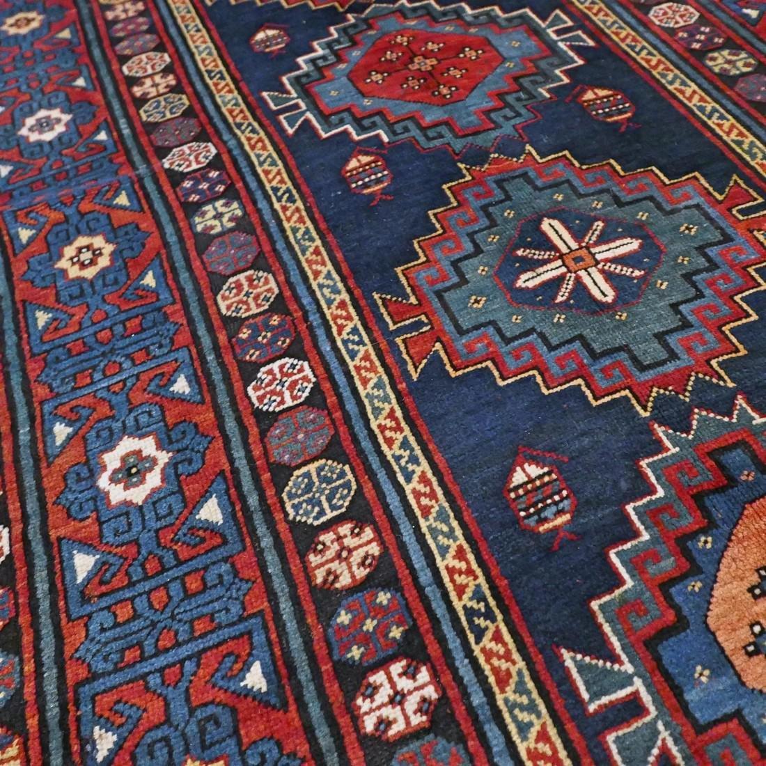 Antique 1800s Kazak rug - 9.5 x 4.3 - 7