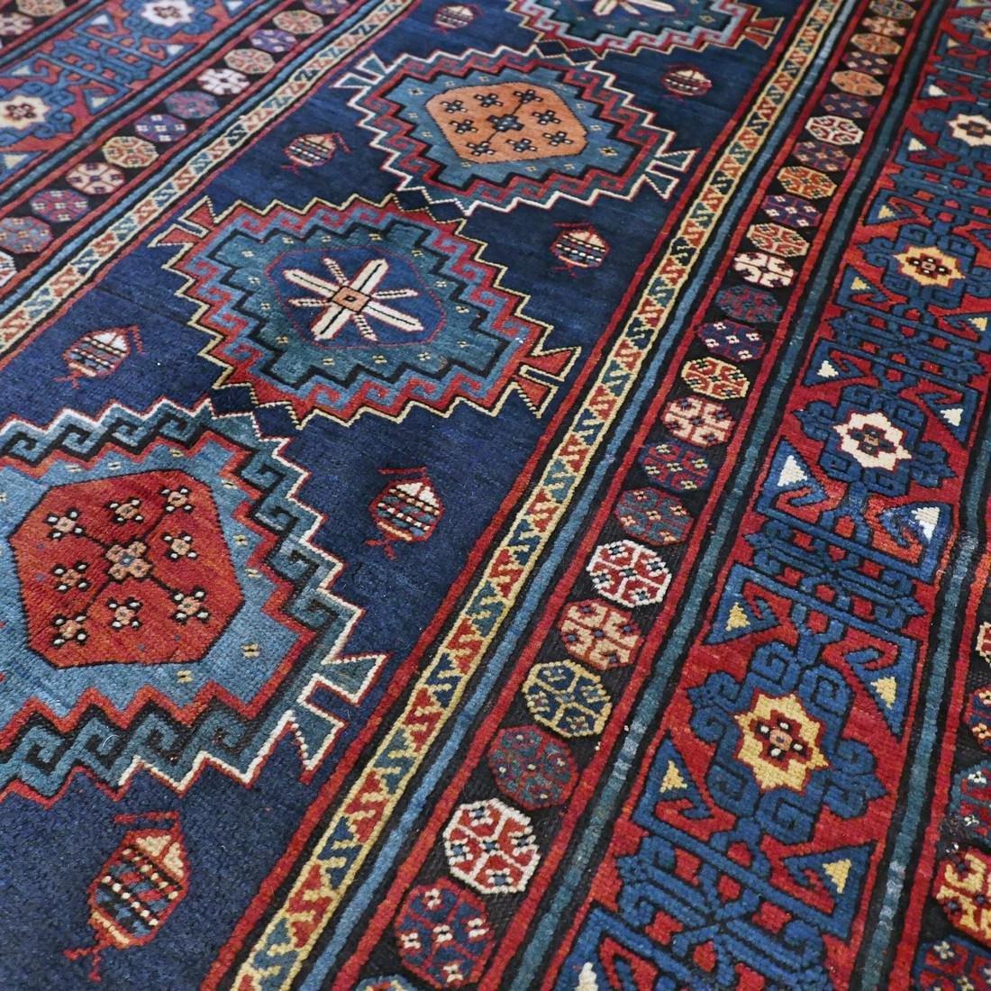 Antique 1800s Kazak rug - 9.5 x 4.3 - 8