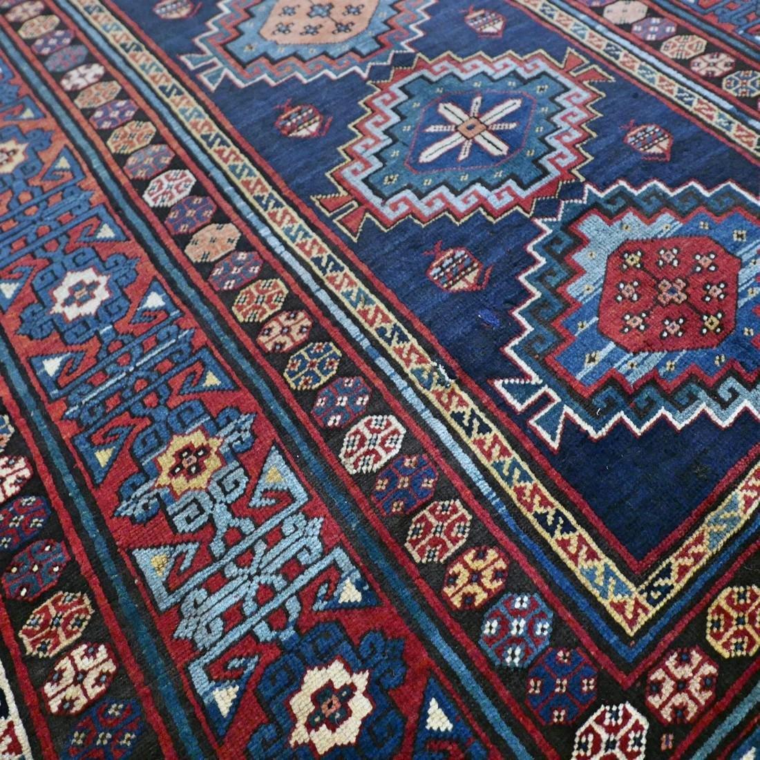 Antique 1800s Kazak rug - 9.5 x 4.3 - 9