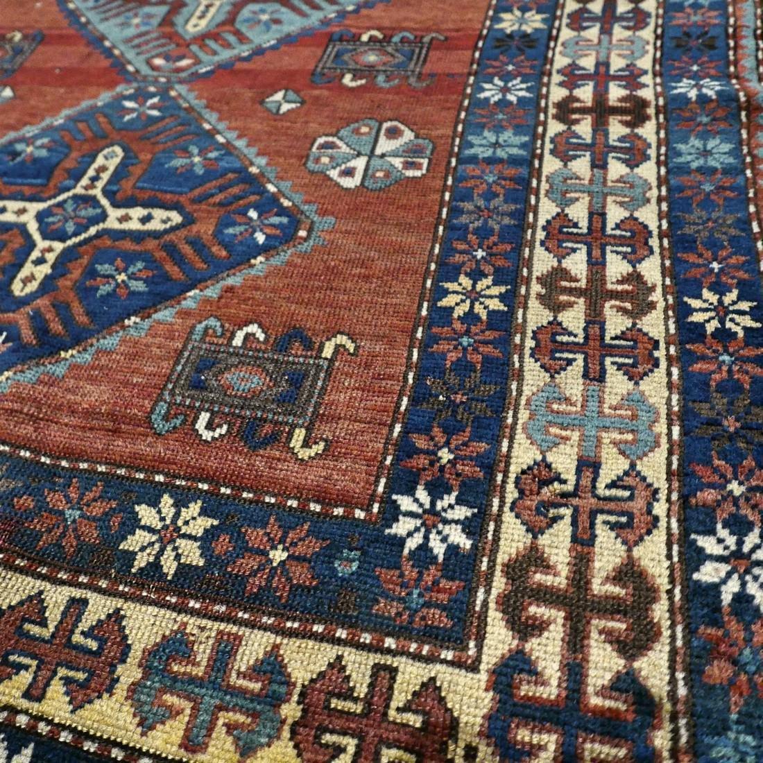 Wonderful antique 1940s Kazak rug6.1 x 4.4 - 3