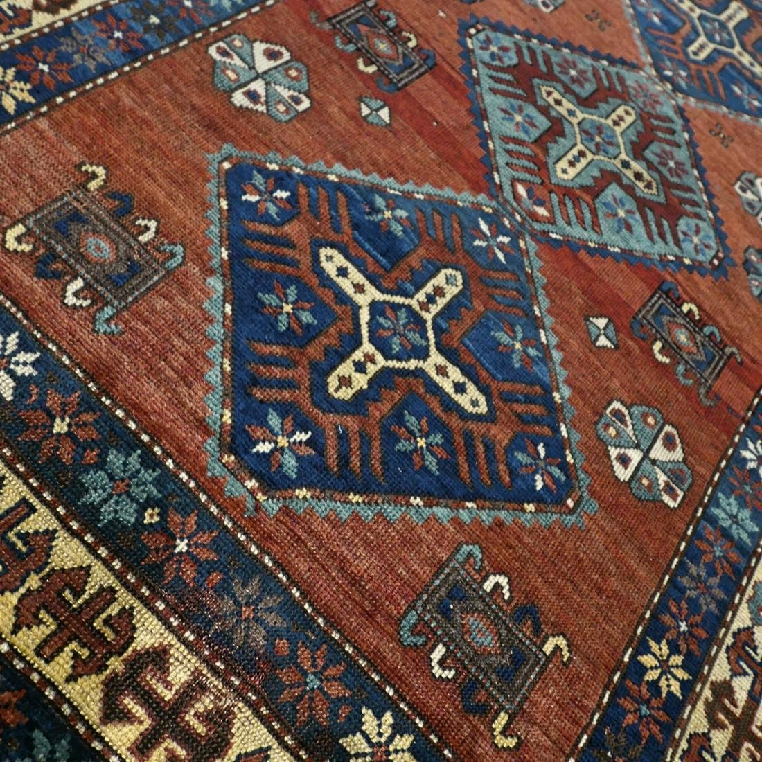 Wonderful antique 1940s Kazak rug6.1 x 4.4 - 4