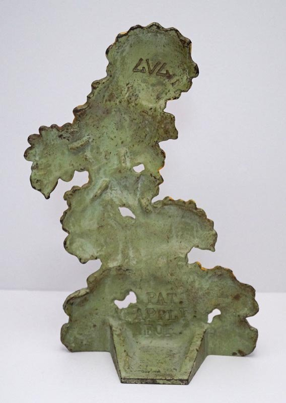 Antique Zinnias Flower Cast Iron Doorstop - 5