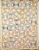 Vintage 30s Ocean Waves Lady of the Lakes Antique Quilt