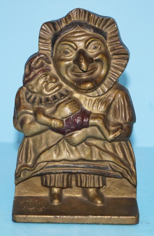 Antique Punch & Judy Cast Iron Bookends - 2