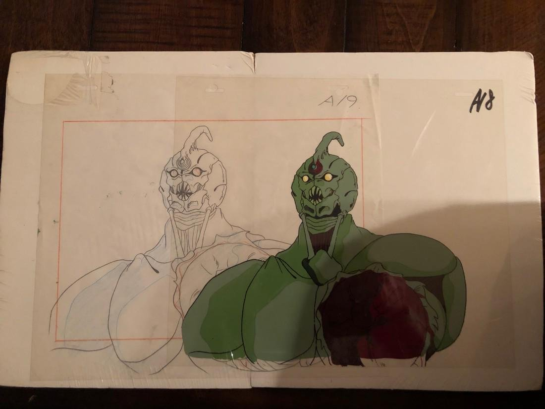 GUYVER ANIMATION CEL AND ORIGINAL DRAWING