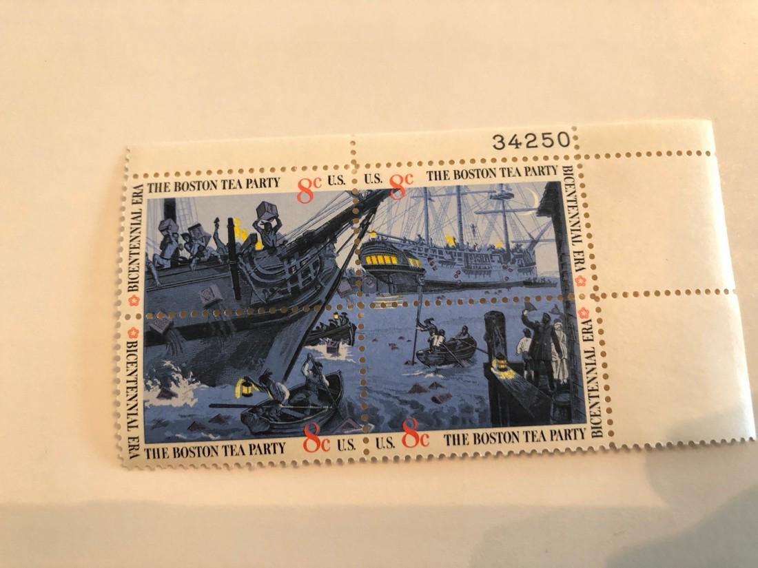 Boston Tea Party 8c stamp set
