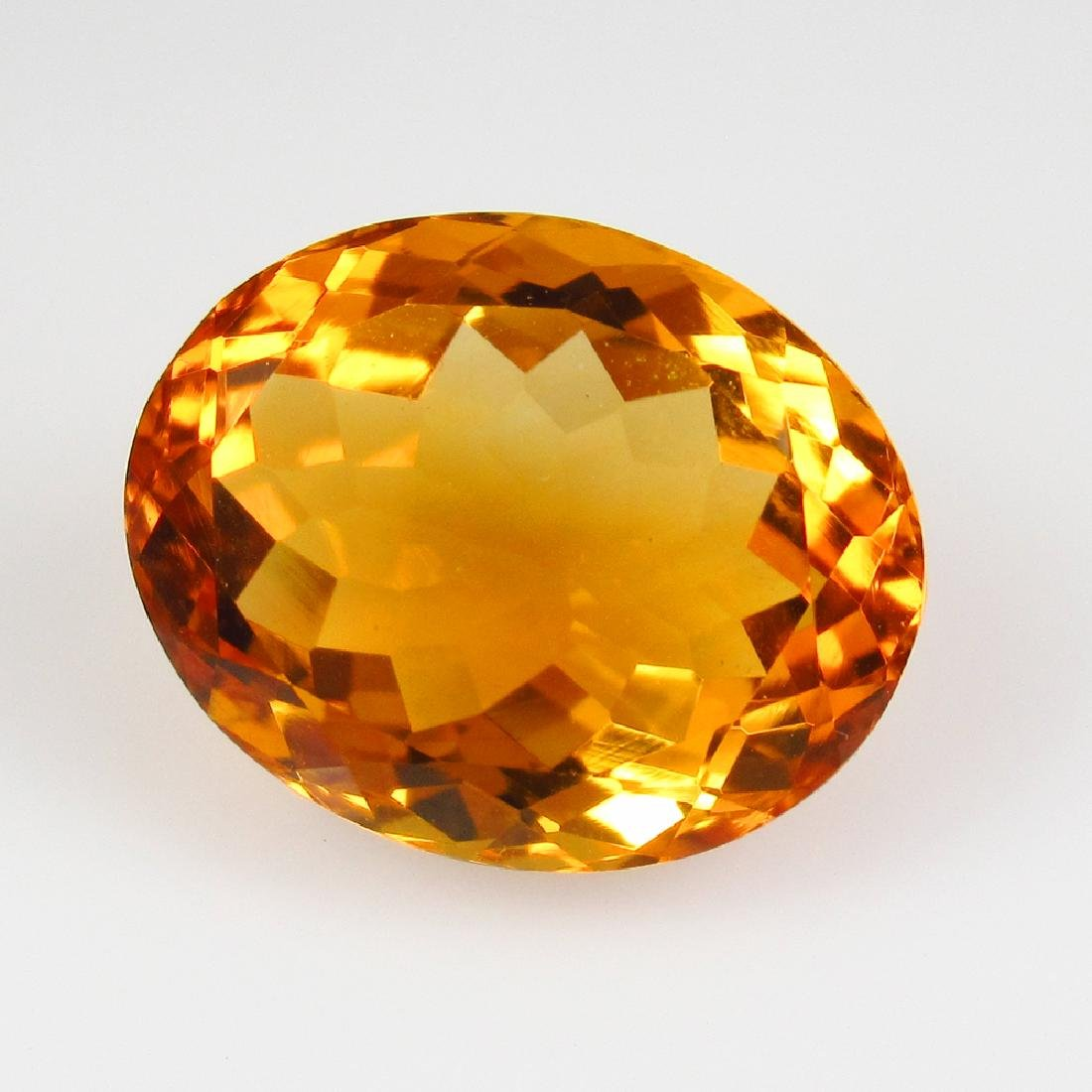 9.02 Ct Genuine Madeira Citrine 15X12 mm Oval Cut