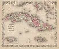 """""""Colton's Cuba, Jamaica and Porto Rico"""". Puerto Rico."""