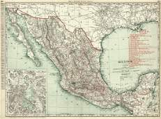 Mexico Rand, McNally & Co.'s Indexed Atlas Map of the
