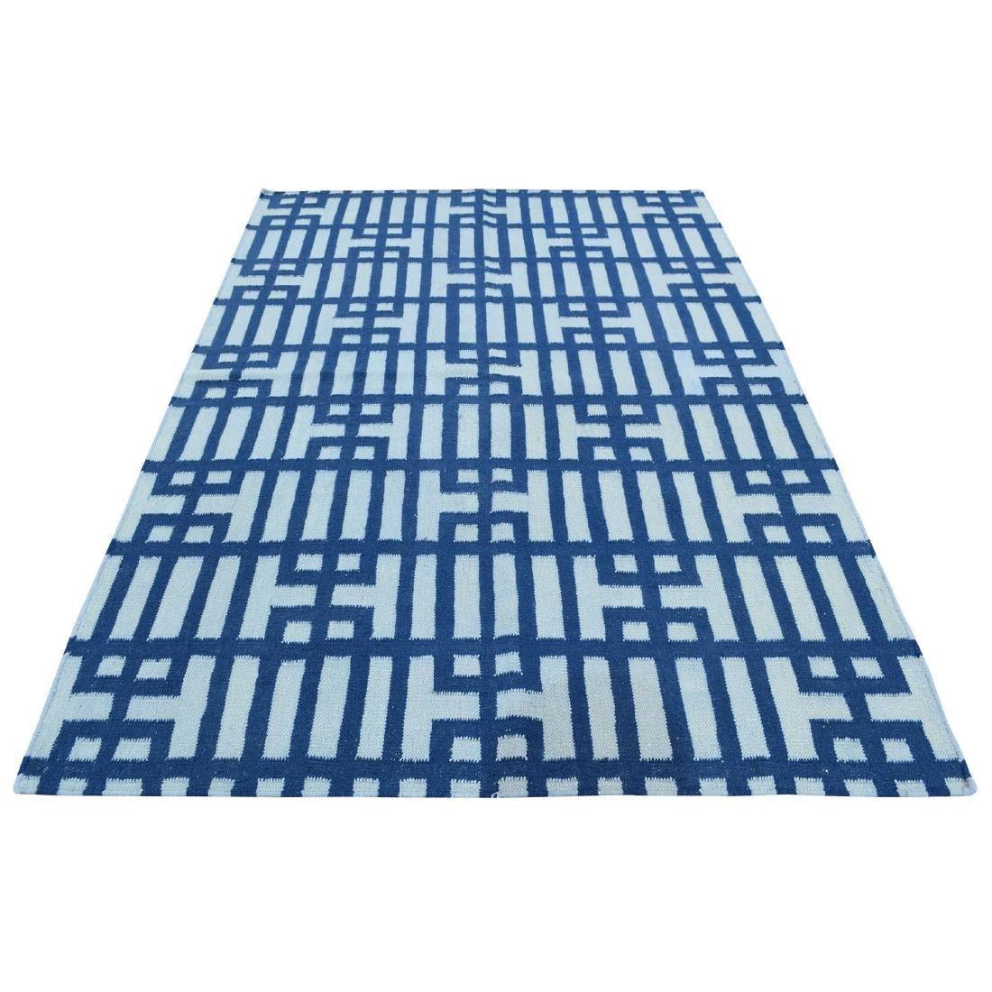 Hand Woven Flat Weave Reversible Kilim Pure Wool Rug