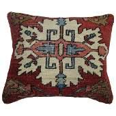 Persian Serapi Heriz Rug Pillow