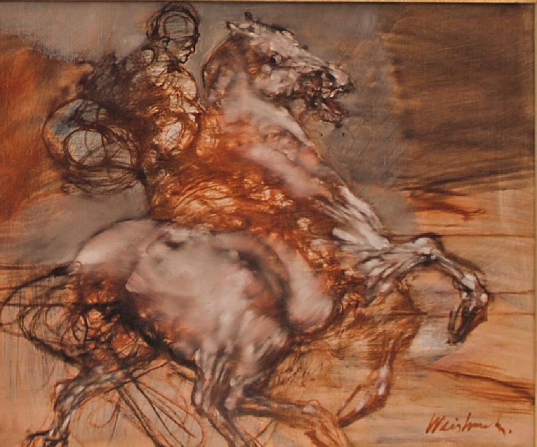 Claude Weisbuch: Le Cavalier seul au (cheval)