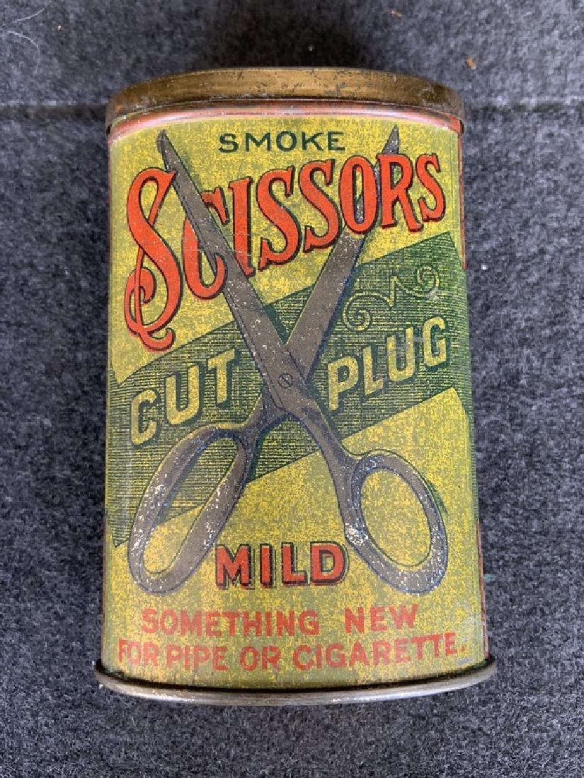 Rare Scissors Pocket Tobacco Tin