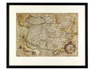 c1620 Mercator Map of the Persian Empire by J Hondius