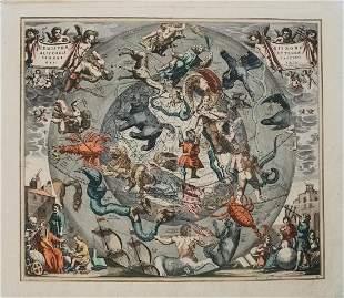 1708 Cellarius Celestial Map from Northern Hemisphere