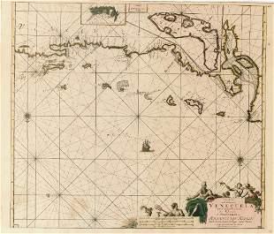 Van Keulen Rare Venezuela Coastal Chart