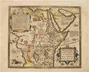 1592 Ortelius Map of Central Africa -- Presbiteri
