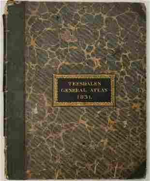 1831 Teesdale World Atlas -- A New General Atlas of the