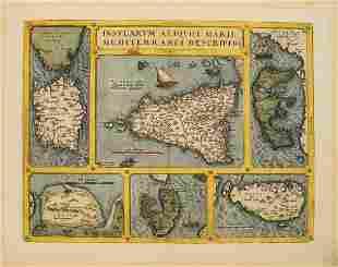 79 Ortelius Map of Six Mediterranean Islands --