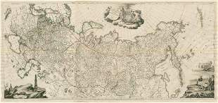 Tabula Geographica Imperii Russici Russia 3 sheets.