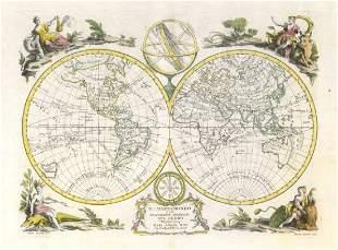 Il Mappamondo World twin hemispheres Cook Bougainville