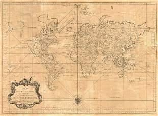 Essay dune Carte Rduite Parties Connues du Globe