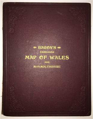 Bacon's Excelsior [Logo] Map of Wales and