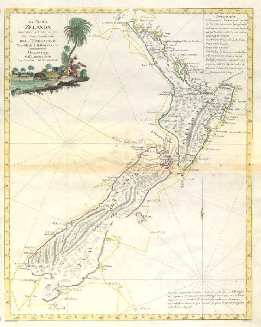 La Nuova Zelanda trascora nel 1769 e 1770 dal Cook New