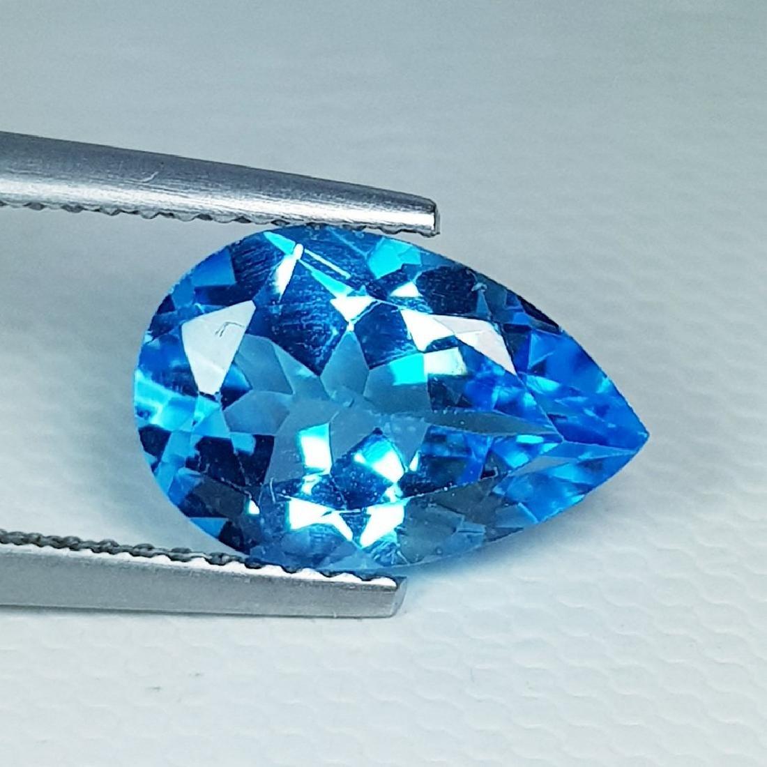 Natural Blue Topaz Pear Cut 3.40 ct