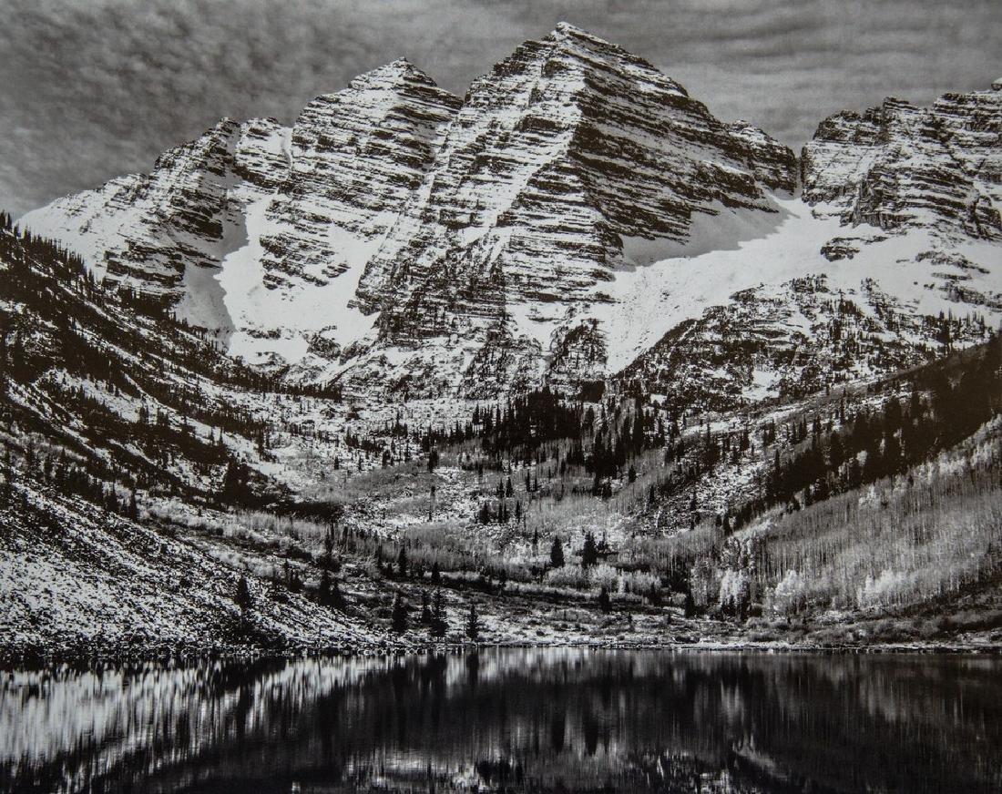 ANSEL ADAMS - Maroon Bells, near Aspen, Colorado, 1951