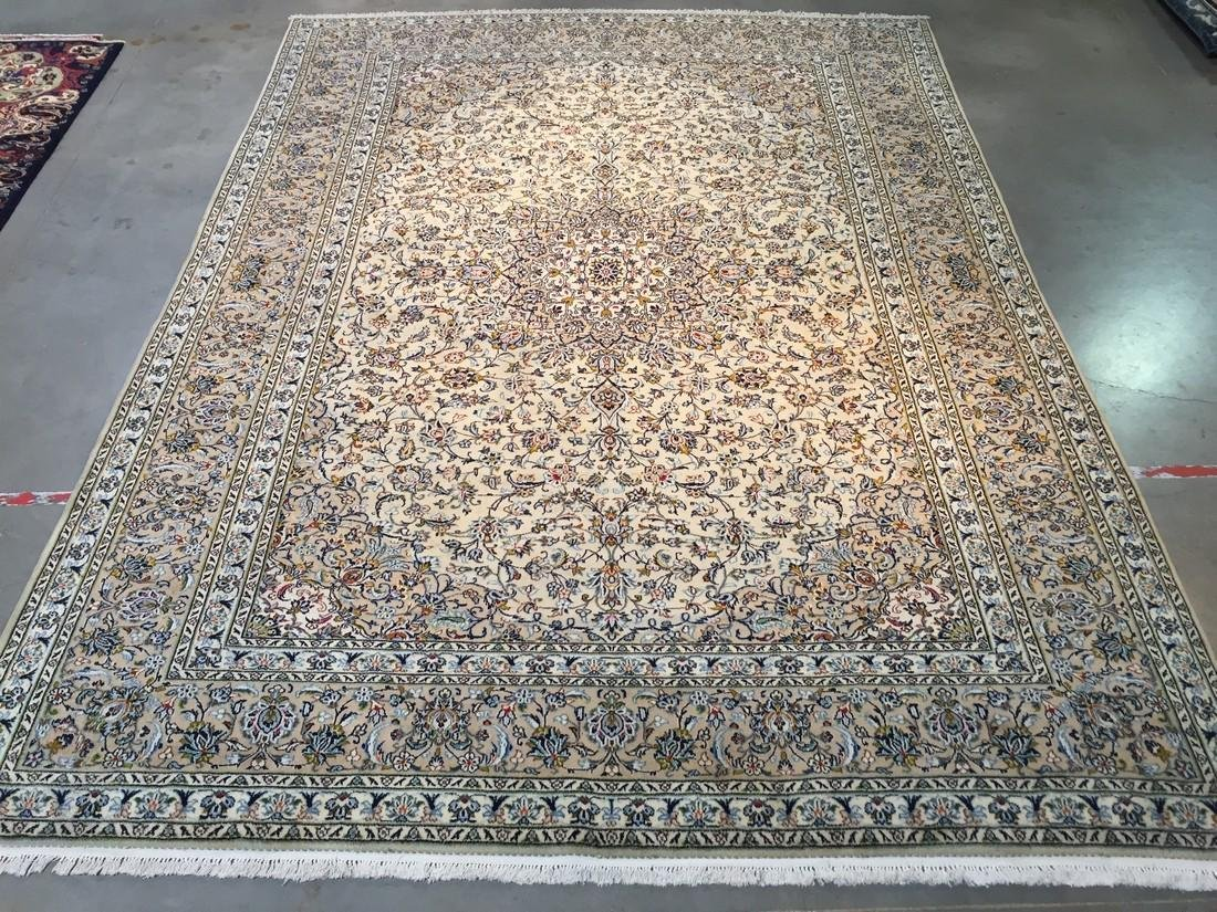 "STUNNING ANTIQUE PERSIAN KASHAN RUG 9'.6""x13'.2"""
