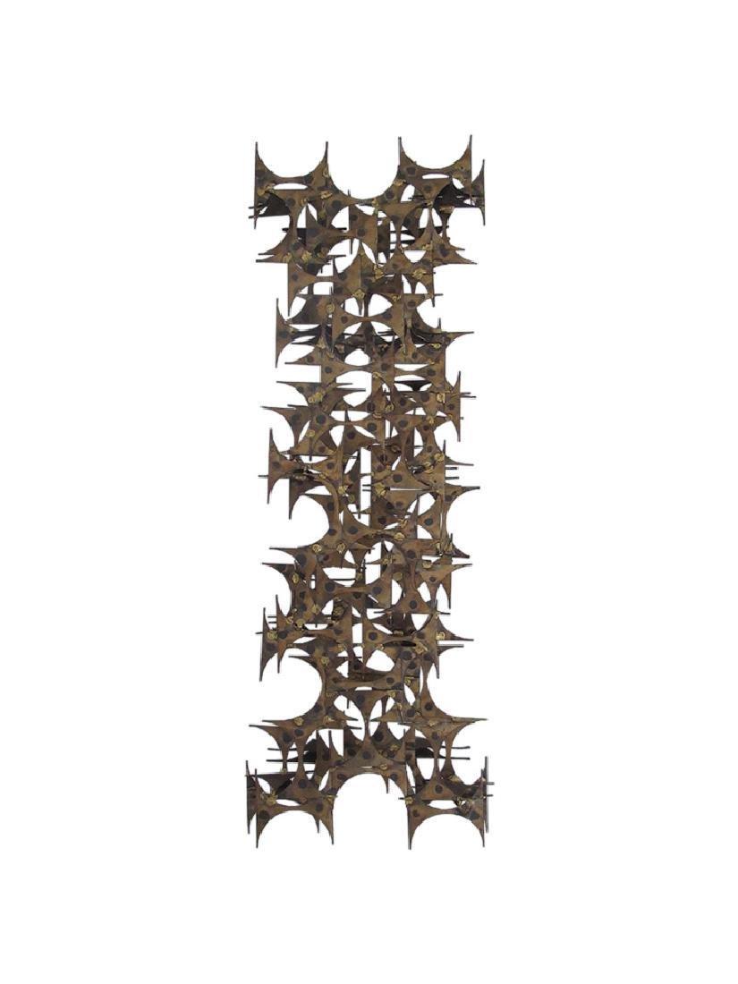 Brutalist wall sculpture by Mark Weinstein for Marc