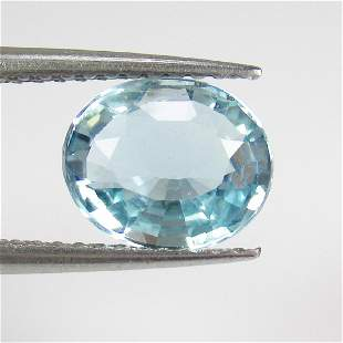 138 Ctw Natural Blue Aquamarine 85X7 mm Oval Cut