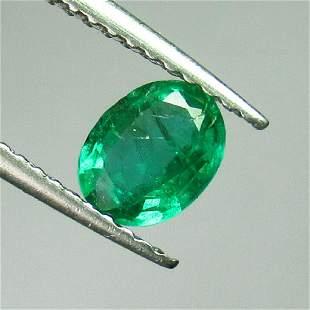 054 Ctw Natural Zambian Emerald 6X47 mm Oval Cut