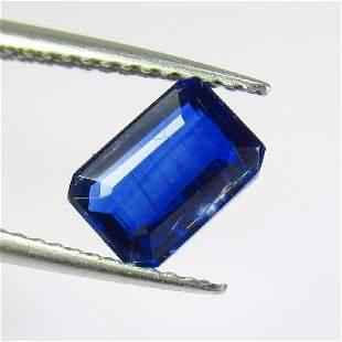 114 Ctw Natural Deep Blue Kyanite Emerald Cut