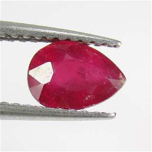 106 Ctw Natural Mozambique Red Ruby 7X5 mm Pear Cut