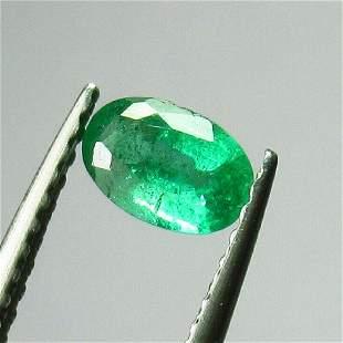 042 Ctw Natural Zambian Emerald 6X4 mm Oval Cut