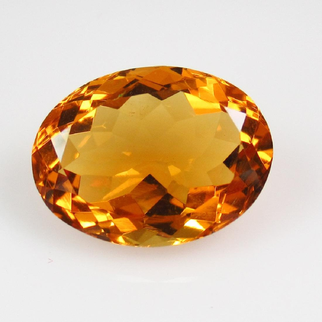 5.77 Ct Genuine Madeira Brandy Yellow Citrine Oval