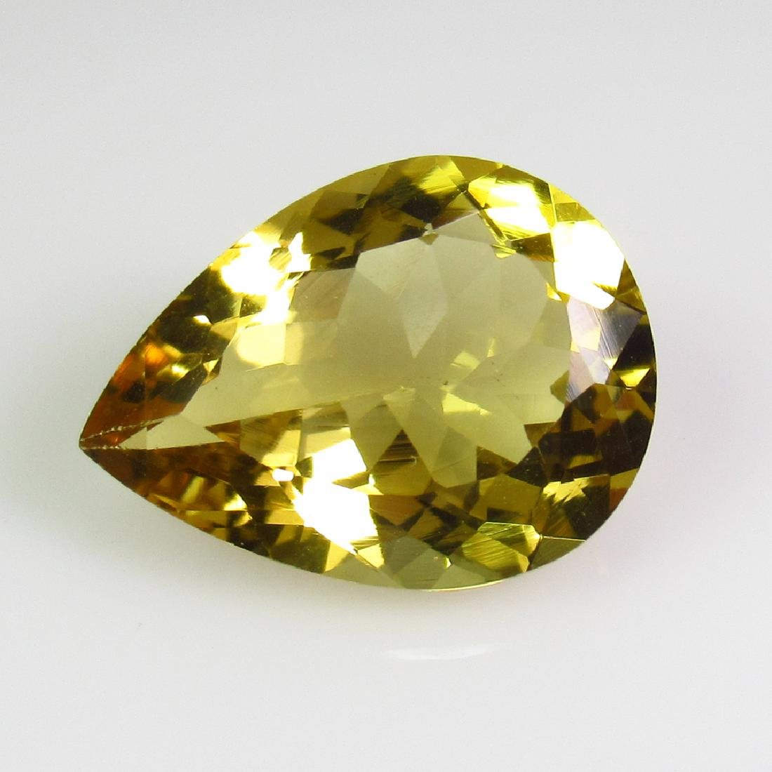 6.80 Ct Genuine Madeira Brandy Yellow Citrine Pear